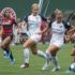 una scena di portland thorns - nc courage