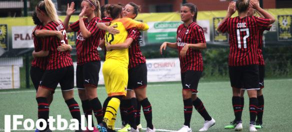 La squadra femminile del Milan