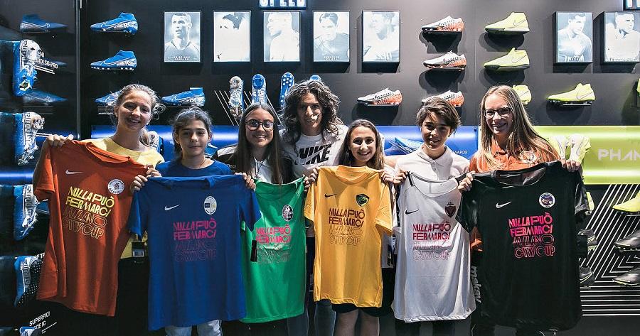 Bergamaschi alla presentazione del torneo Nike U14