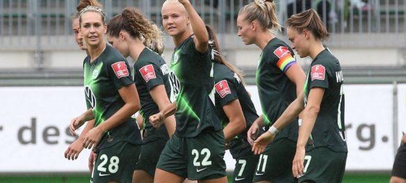 Le calciatrici del Wolfsburg