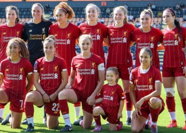 Liverpool women ad Anfield