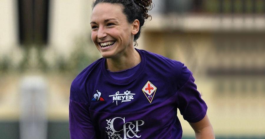 L'attaccante della Fiorentina Ilaria Mauro
