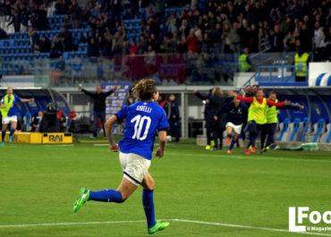 Cristiana Girelli esulta dopo un gol