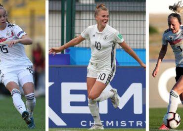 Le giovani calciatrici della nazionale di calcio femminile della Germania