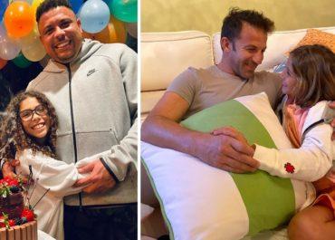 Dorotea Del Piero con la figlia di Ronaldo