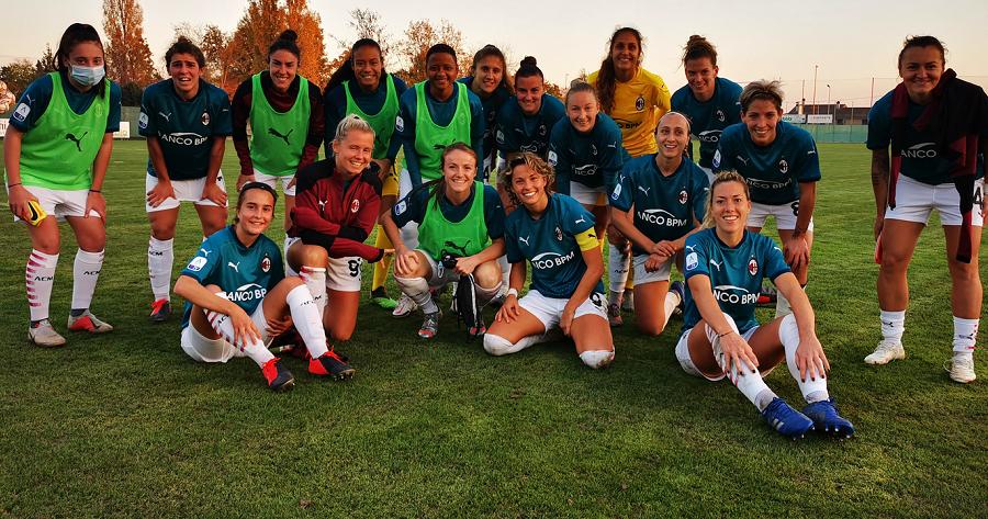 La formazione del Milan Femminile