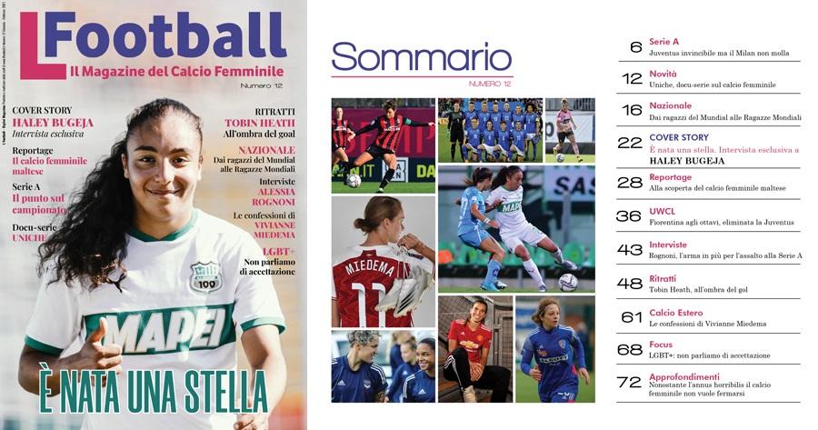 Haley Bugeja in copertina su L Football