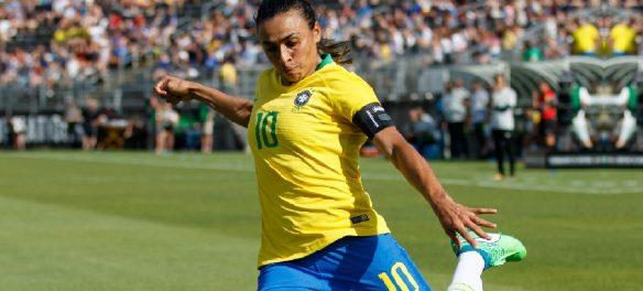 Team Brazil forward Marta (10)
